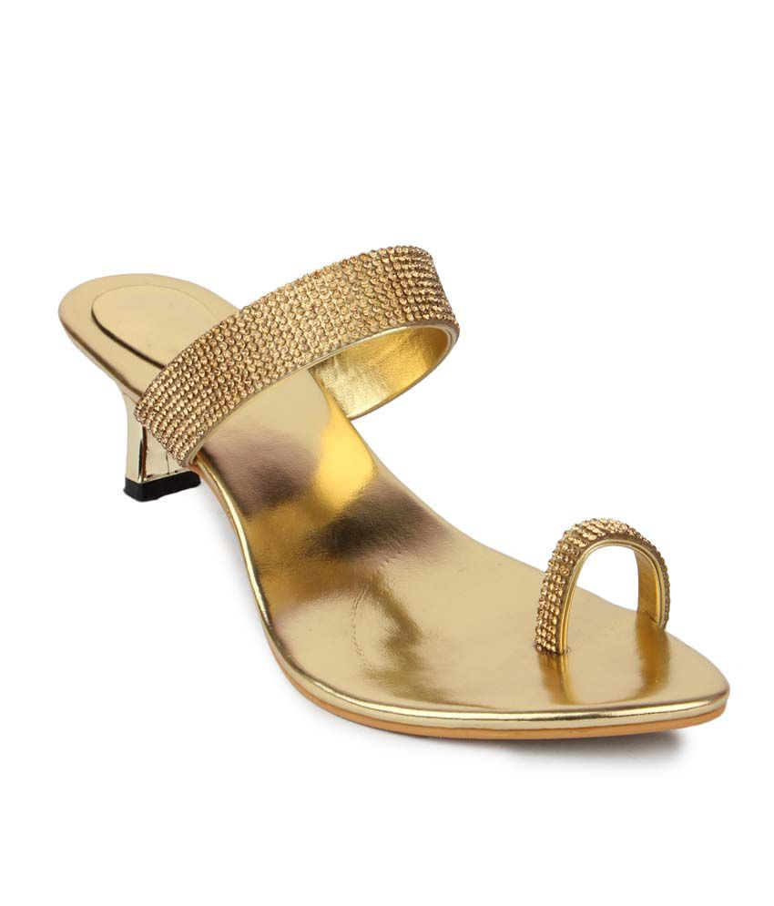 be960d2c0ba Aris Mart Gold Faux Leather Back Open Toe Ring Heeled Sandals Price in  India- Buy Aris Mart Gold Faux Leather Back Open Toe Ring Heeled Sandals  Online at ...