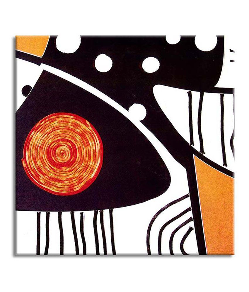 Painting Mantra Polka Abstract Painting Canvas Print Wall Hanging