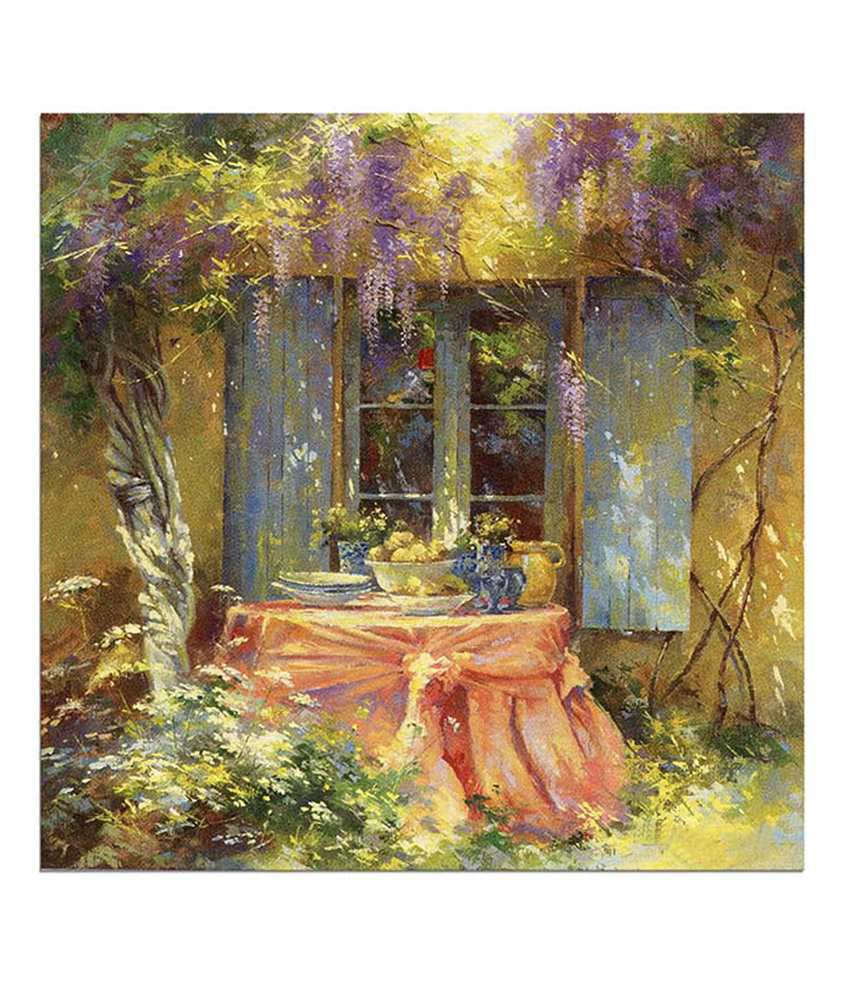 Painting Mantra Garden Painting Canvas Print Wall Hanging