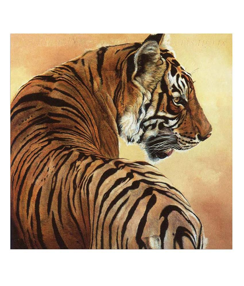 Painting Mantra Tiger Painting Canvas Print Wall Hanging