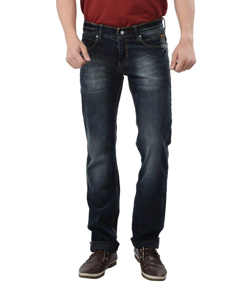 Passport Faded Dark Night Slim Fit Lycra Jeans