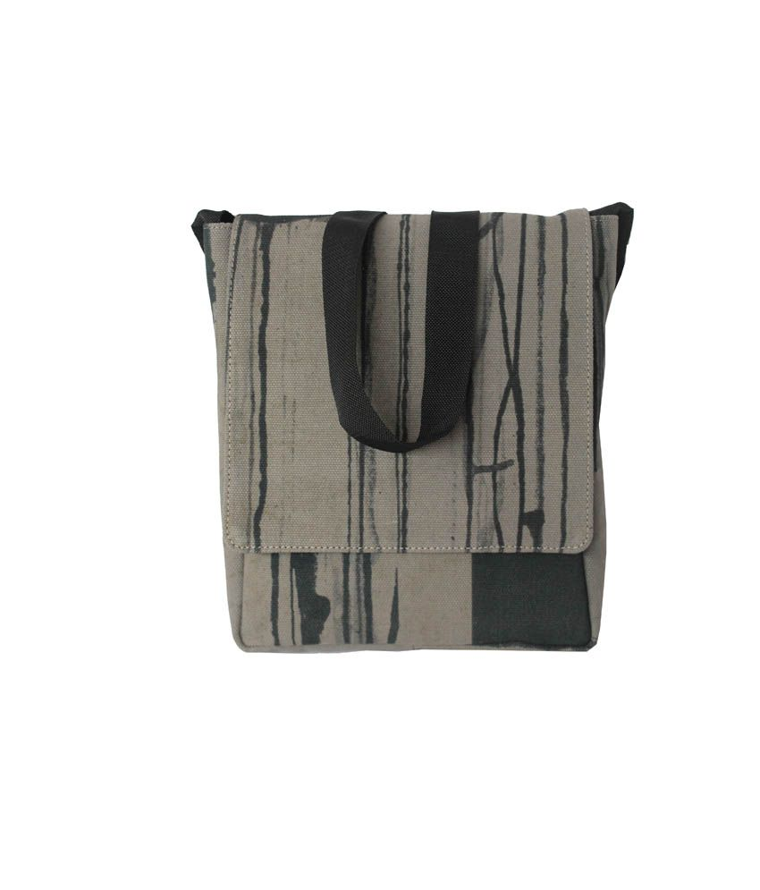 Felicita Superb Gray Canvas Cloth Sling Bag