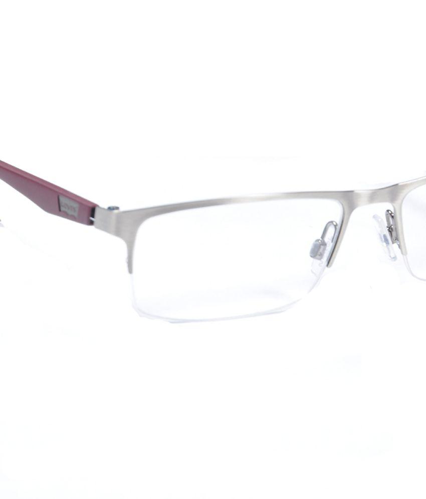 02ba6856fbd Levi s Silver Metal Wayfarer Frames - Buy Levi s Silver Metal ...
