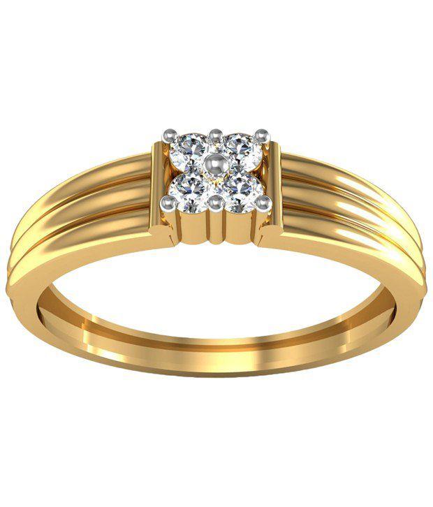 Avsar 18kt Gold & Real Diamond Gujarati Ring For Women