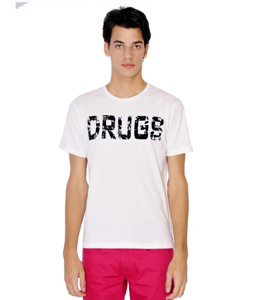 Tiktauli de. Corps. Cotton White No Drugs T-Shirt