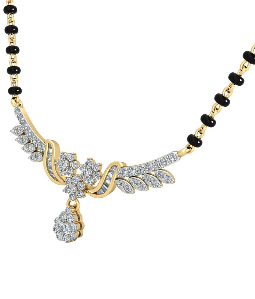 The Seraphima Diamond Mangalsutra 14KT Gold WearYourShine by PC Jeweller