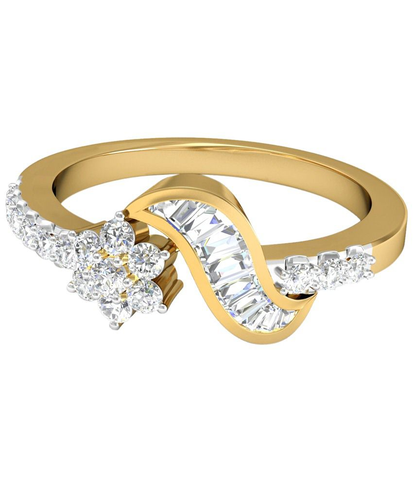 The Leah Diamond Ring 14KT Gold WearYourShine by PC Jeweller
