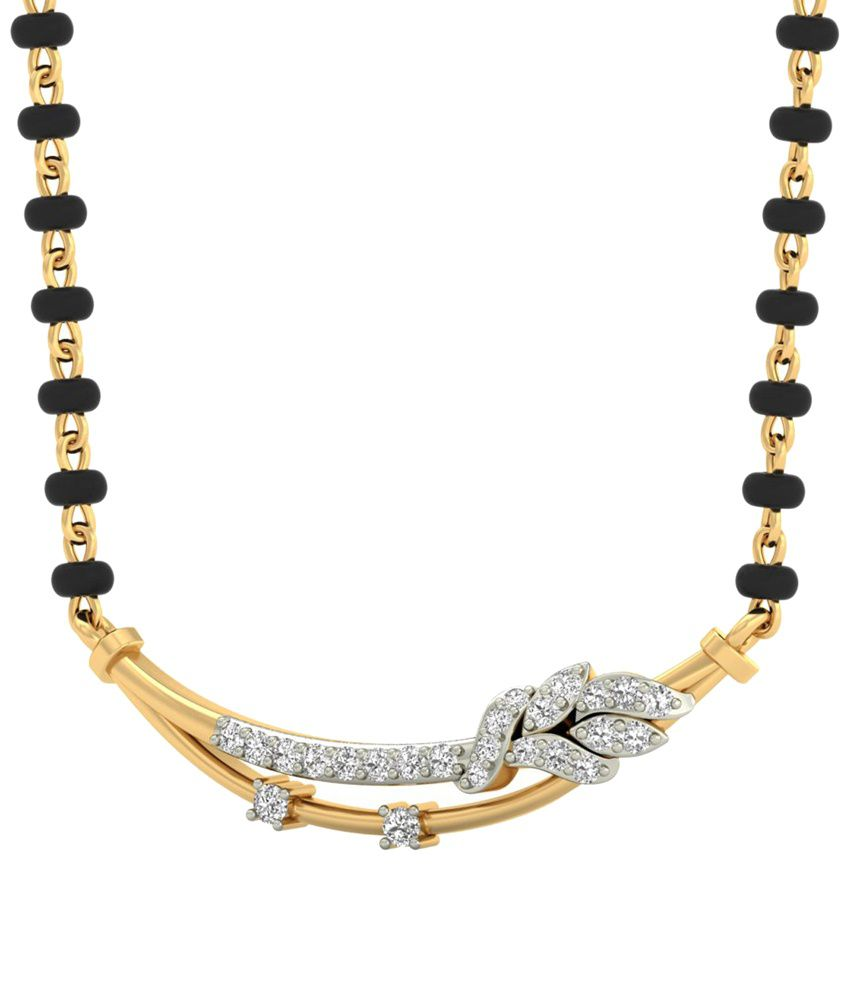 The Ziv Diamond Mangalsutra 14KT Gold WearYourShine by PC Jeweller