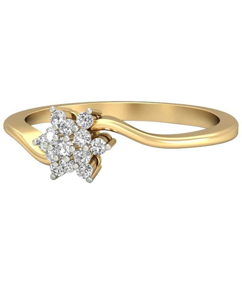 The Akira Diamond Ring 14KT Gold WearYourShine by PC Jeweller