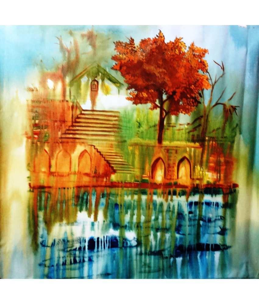 Diamond collection frameless landscape creative acrylic for Creative painting on canvas
