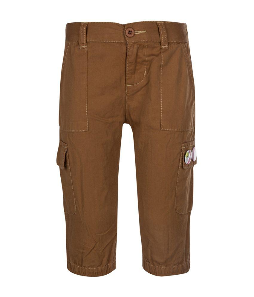 Tickles Brown Cotton Capri