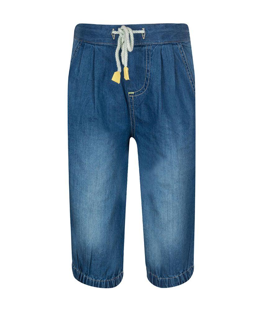 Tickles Denim Blue Cotton Capri