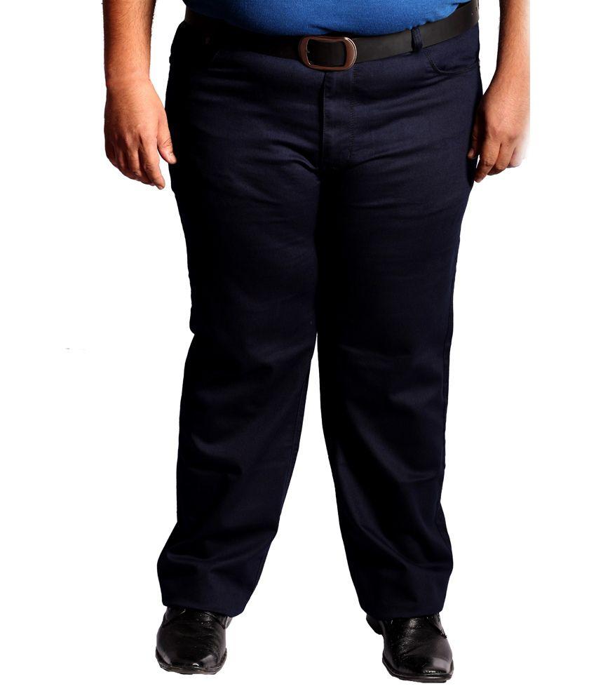 Xmex Blue Cotton Blend Jeans For Men