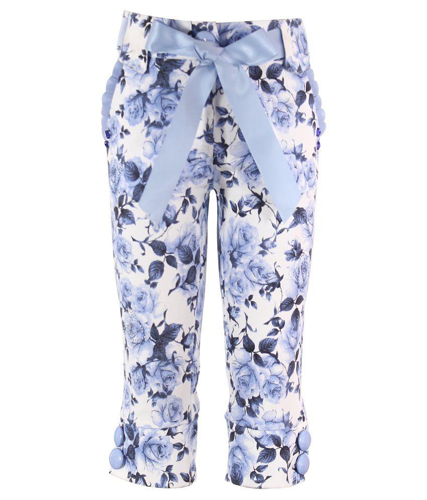 Cutecumber Blue & White Synthetic Capri