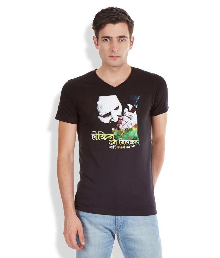 Duke Black V-Neck Neck T Shirt