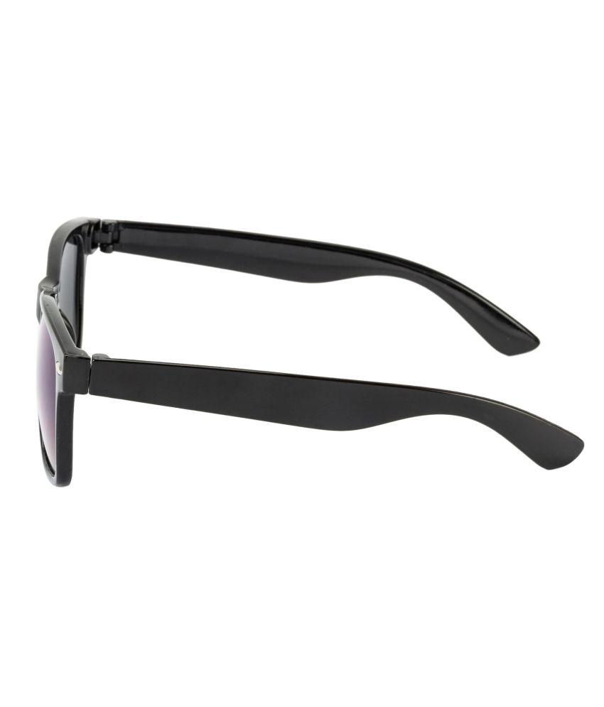 1d34d2680d Glitters Black Mirrored Wayfarer Sunglasses - Buy Glitters Black ...