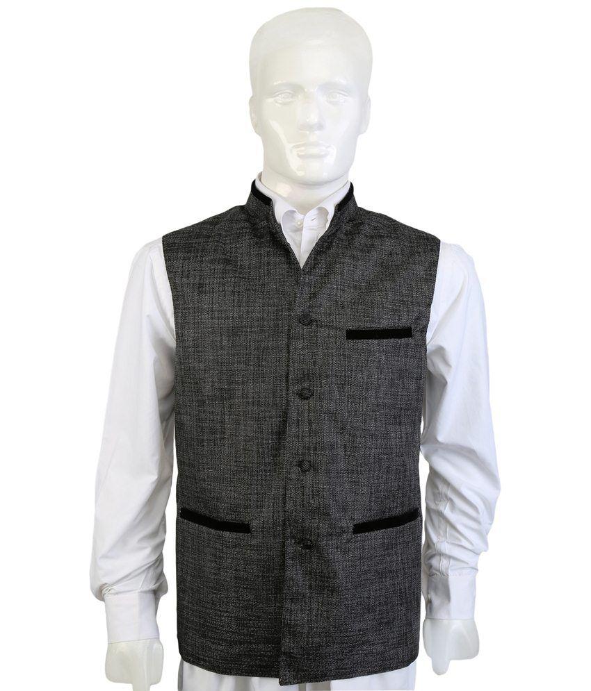Selfieseven Dashing Gray Semi Formal Waistcoat
