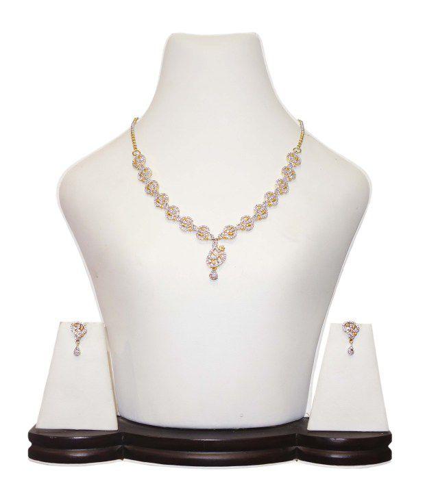Anjan Antique Gold Necklace Set