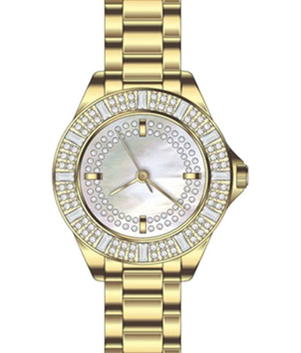 Aspen Golden Metal Analog Watch