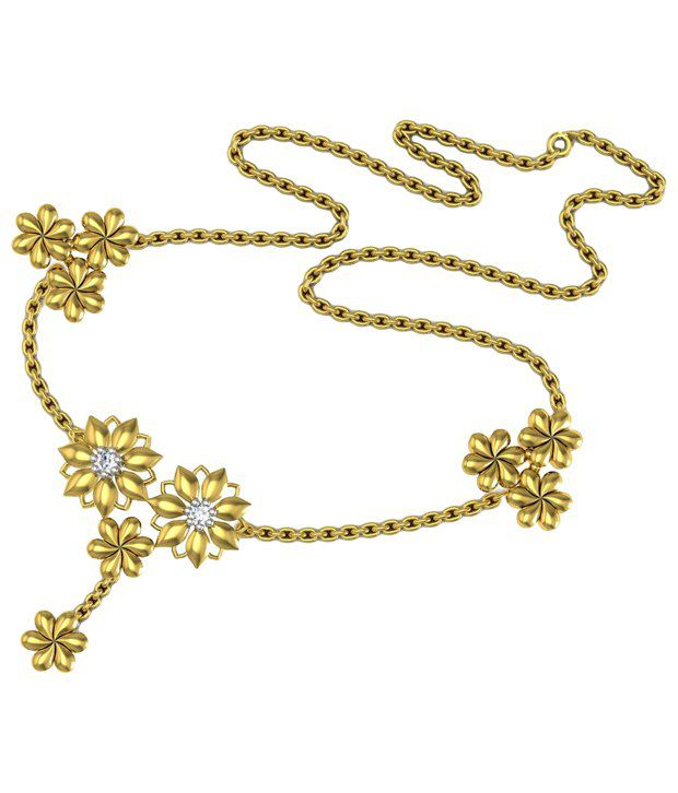 Avsar 18kt Gold & Real Diamond Kajal Necklace