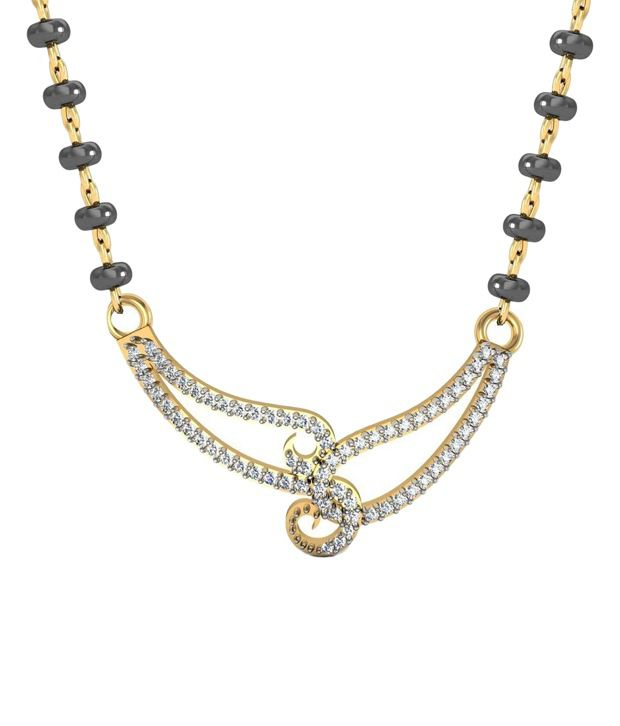 Avsar 18kt Real Gold & 0.30 Ct Diamond Mangalsutra