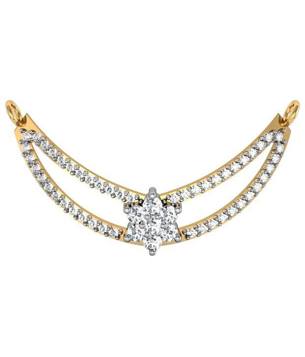 Avsar Stylish 18kt Gold  amp; Diamond Mangalsutra