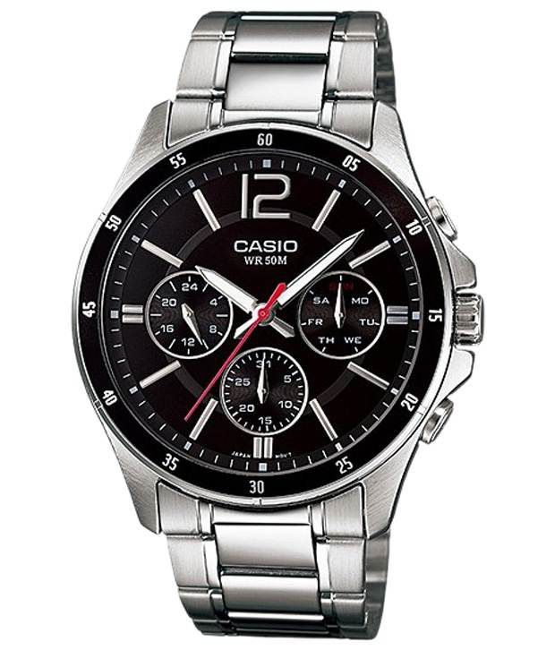 bd809e37c49 Casio Awesome Black   Silver Wrist Watch For Men - Buy Casio Awesome Black    Silver Wrist Watch For Men Online at Best Prices in India on Snapdeal