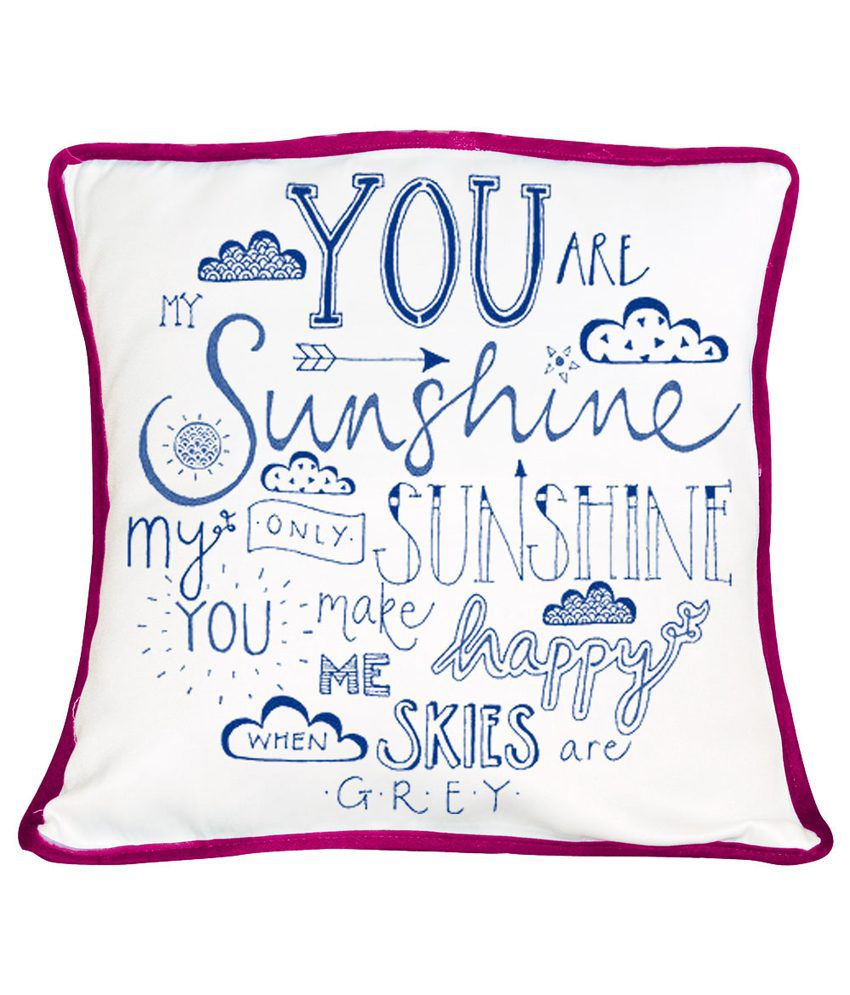 Giftsmate You Are My Sunshine Cushion Cover: Buy Online at ...
