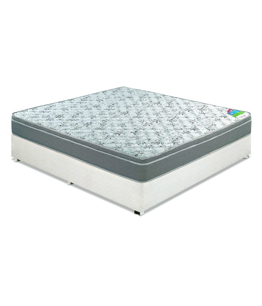 godrej interio king size elegenza foam mattress 78x72x6 inches