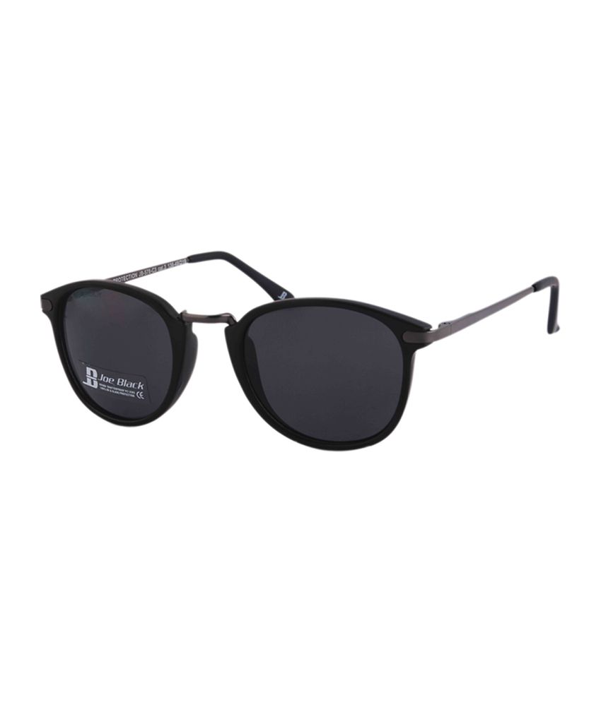 Joe Black Black Oval Sunglasses (JB-578-C3)