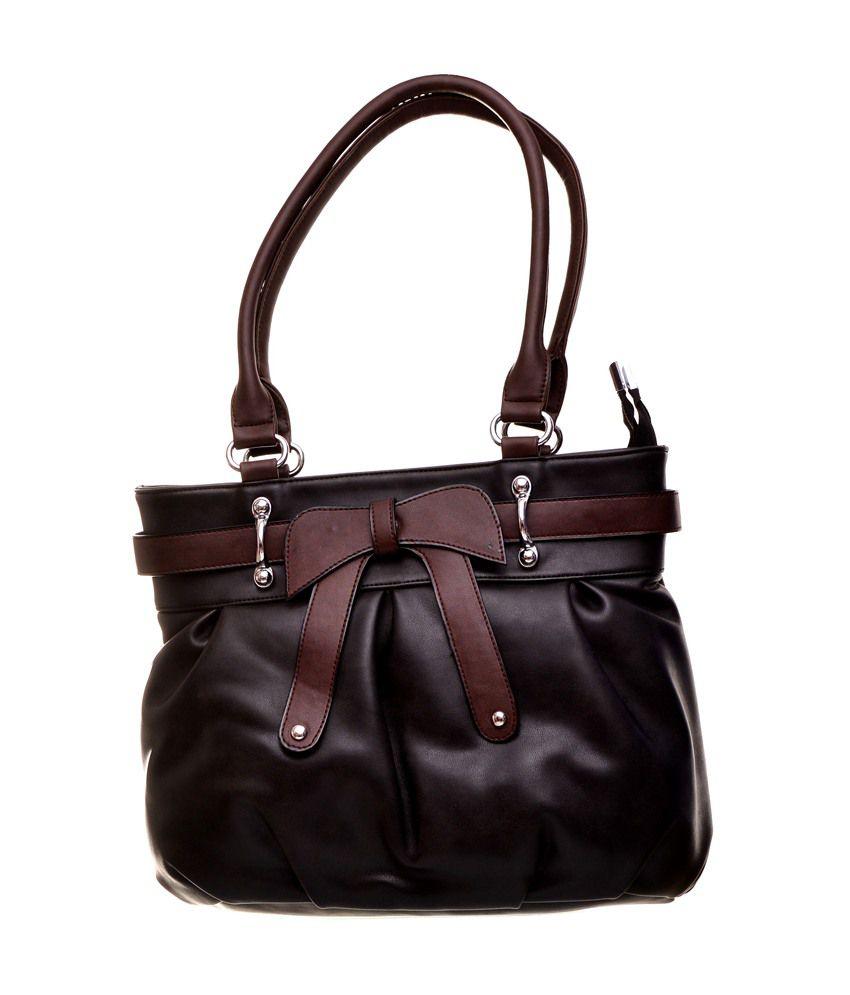 ZENO PU leather Designer Handbag - Black