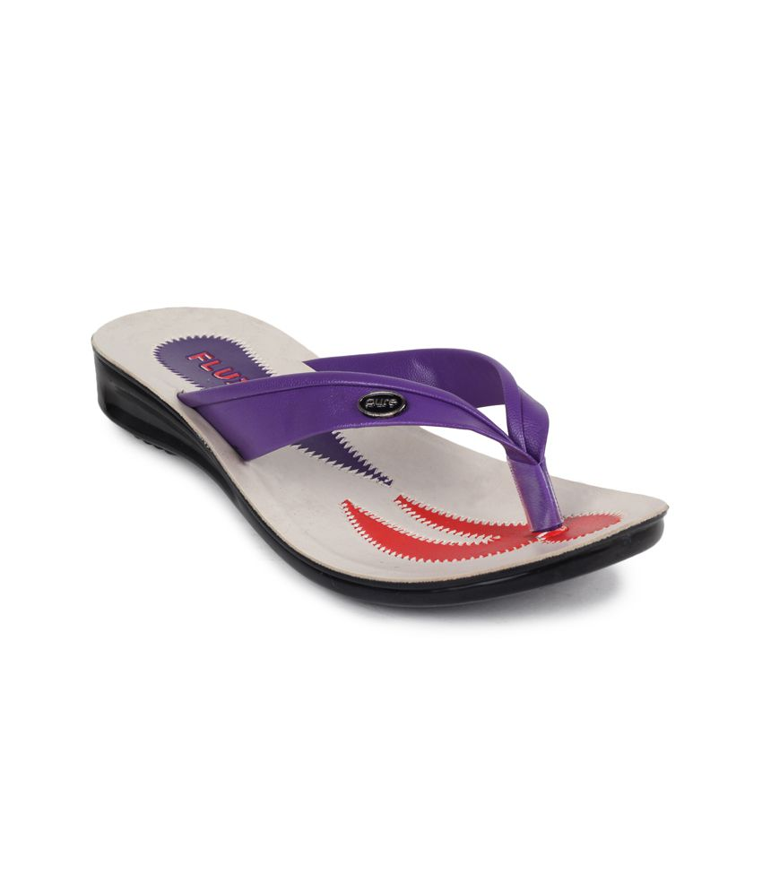 11e Purple Low Heel Slippers