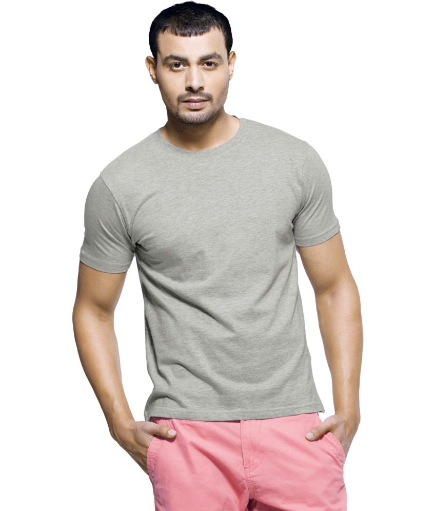 Arunachalam Tex Gray Cotton T-Shirt