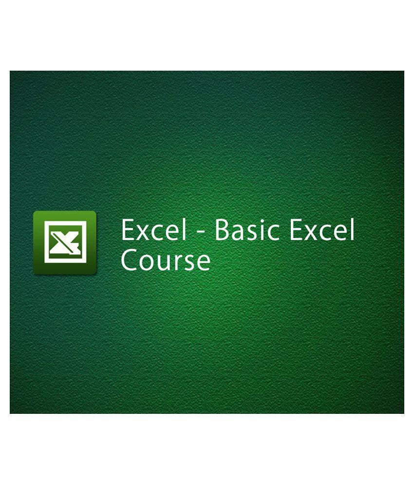 Basic Excel Course (e-Certificate Course)-Online