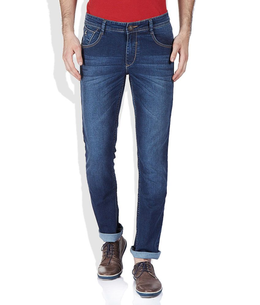 Parx Blue Tapered Basics Jeans
