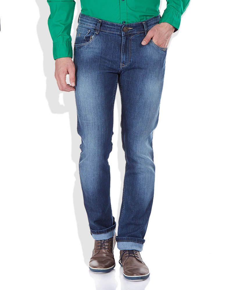 Parx Blue Tapered Basics Jeans