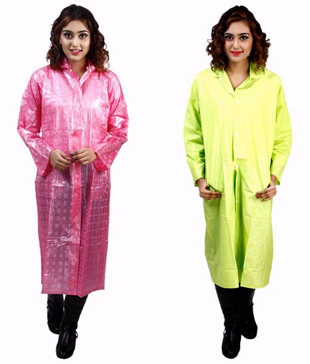 Rainfun Multi Color Waterproof Long Raincoat