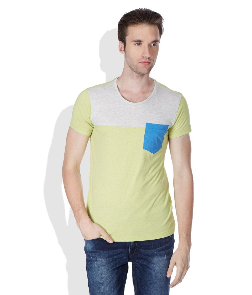 United Colors of Benetton Lime Green Round Neck T-Shirt