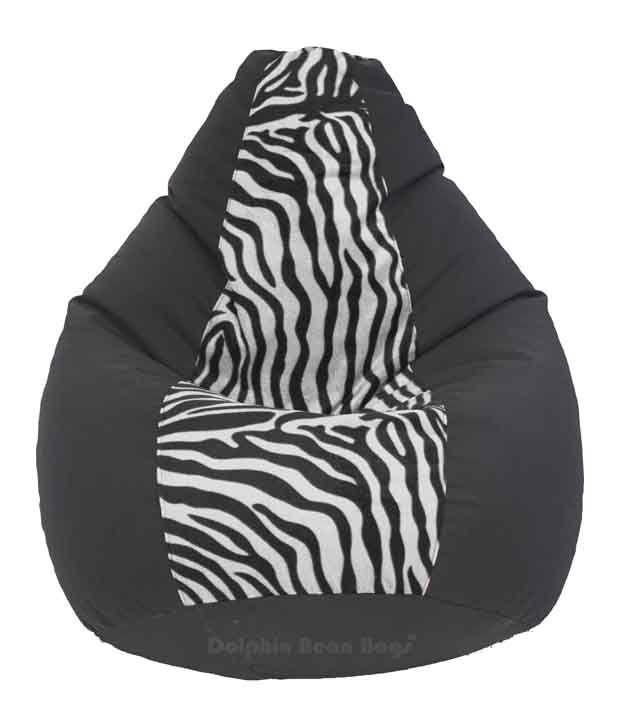 Marvelous Dolphin Xxl Fabric Bean Bag Cover Black Zebra Print Pdpeps Interior Chair Design Pdpepsorg