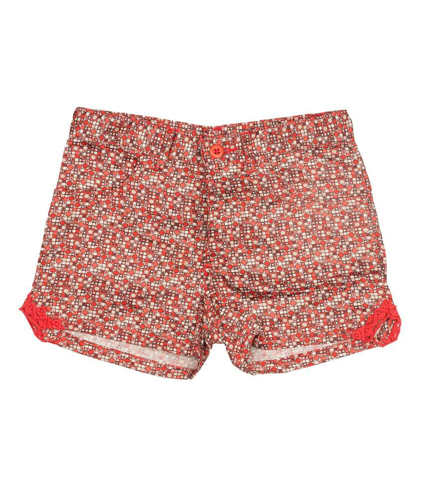 Miss Alibi Cotton Coral Shorts