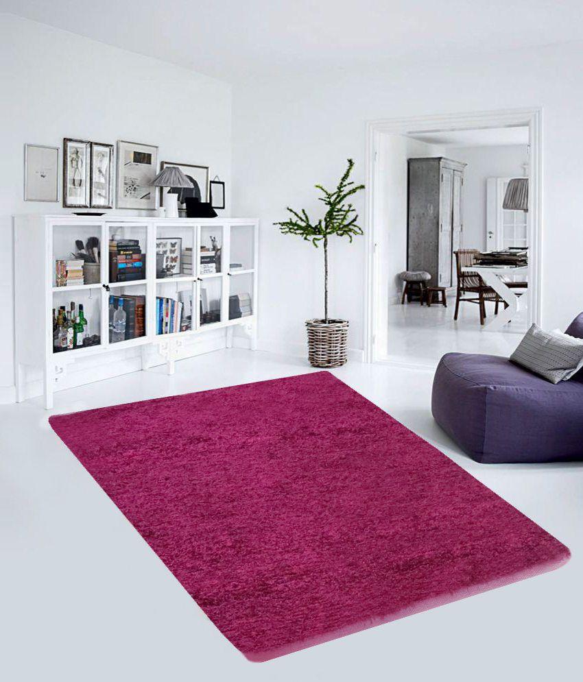 PINDIA Fancy Pink Living Room Floor Carpet 180 X 120 Cm