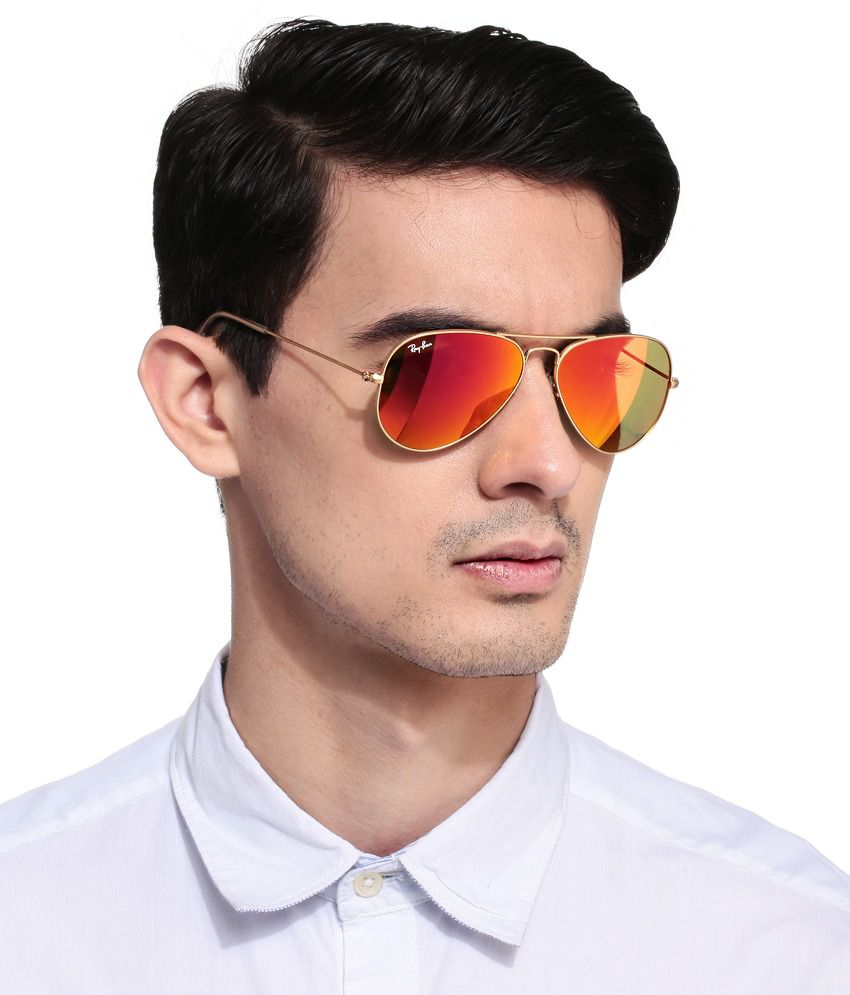 ray ban sunglasses aviator orange