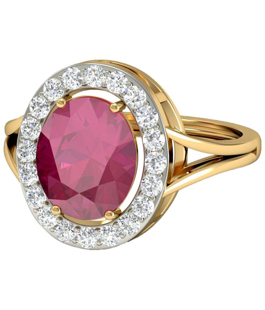 The Adabelle Diamond & Gemstone Ring 14KT Gold WearYourShine by PC Jeweller