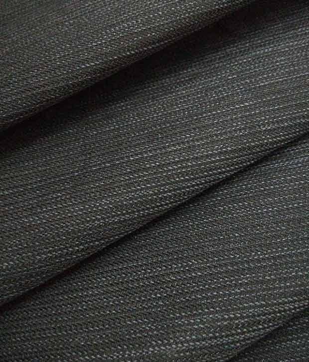 Raymond`S 100% Cotton Pearl Black Collection Designer Trouser Fabric
