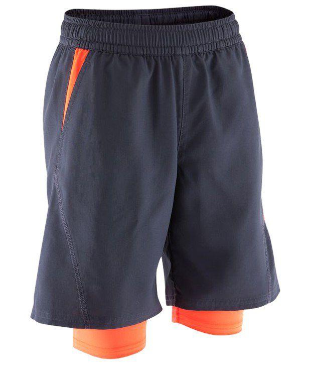 Domyos Dark Gray Fitness Shorts For Men