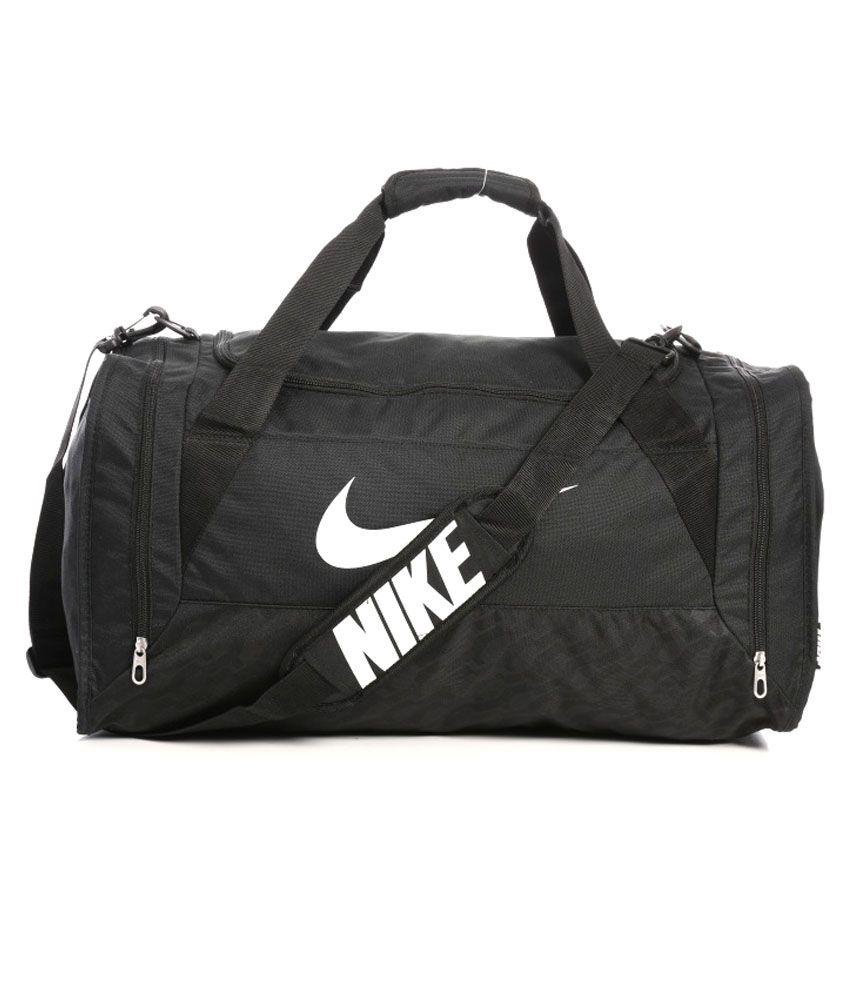 nike black polyester travel bag buy nike black polyester