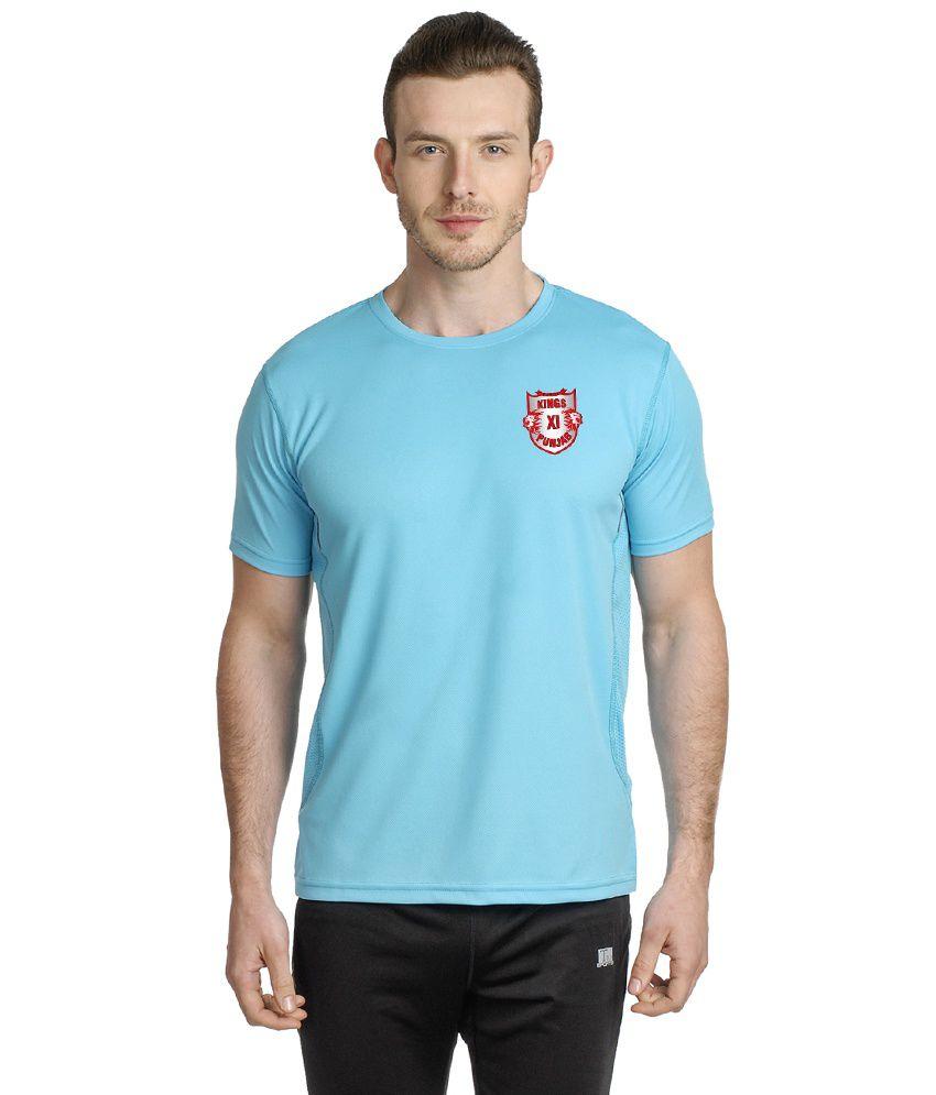 T10 Sports Blue Microfiber T Shirt