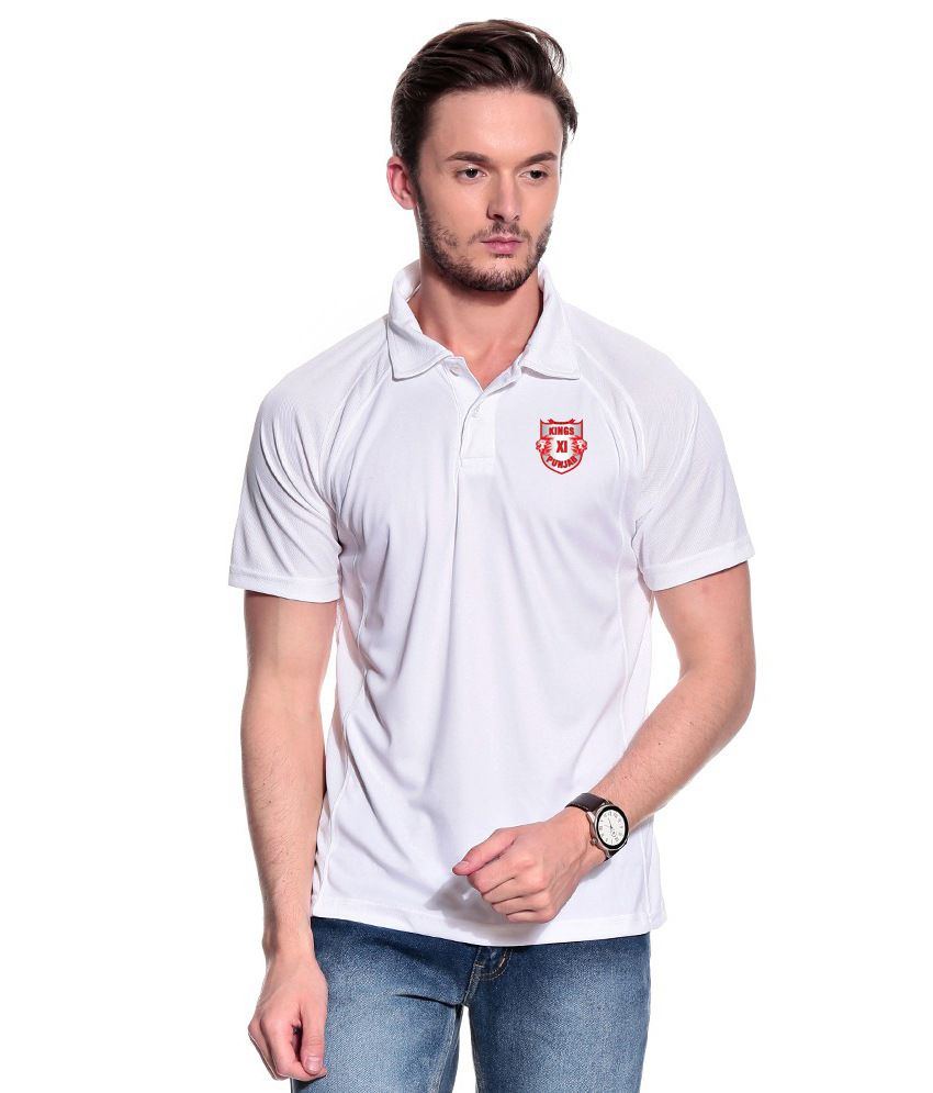 T10 Sports KXIP White Polo T Shirt