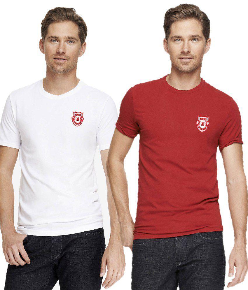 T10 Sports Multicolour T Shirt - Set of 2