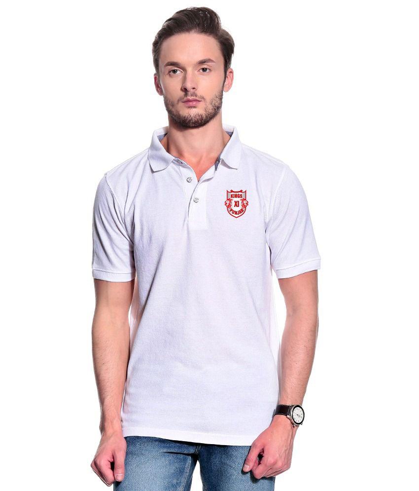 T10 Sports White Polo T Shirt